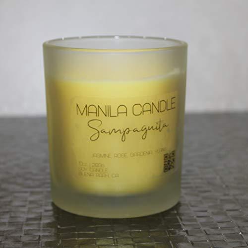Sampaguita   Jasmine   Scented Floral Candle   Manila Candle   Philippine Inspired Candle   Filipino Candle   Soy Candle