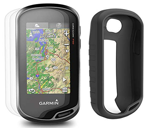 Garmin Oregon 750 Hiking Armor GPS Bundle   with PlayBetter Silicone Case (Black) & Screen Protectors (x3)   Carabiner Clip & USB Cable   GPS/GLONASS Handheld   Built-in Wi-Fi, Camera, Geocaching