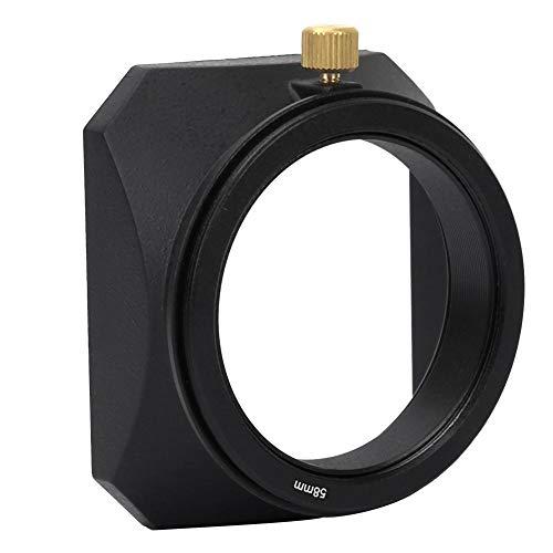 Yunir paraluce, Paralume Accessorio per paraluce Quadrato in Lega di Alluminio per Tutti i Tipi di Fotocamere e Fotocamere mirrorless, Filtro Obiettiv