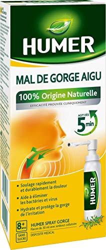 Humer - Spray Gorge - Mal de gorge aigu Pharyngite - Sans sucre Dès 8 ans - 20 ml
