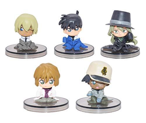 YUESEN Mini Figurine 5 Pezzi Detective Conan Mini Figurine Mini Giocattoli per Bambini e Baby Shower Forniture per la Decorazione della Torta della Festa di Compleanno