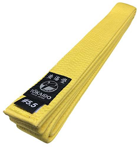 Tokaido Karategürtel gelb | Gelbgurt Karate Gürtel aus Baumwolle | Verschiedene Längen (275)