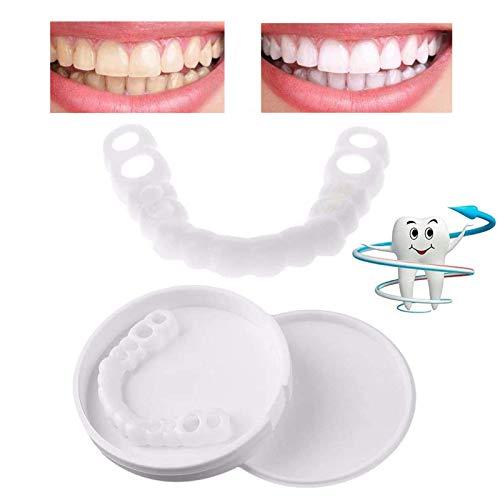 Provisorischer Zahnersatz, Sofortig Furniere Extra Dünn Kosmetische Zähne Sicherer Ober und Unterkiefer für perfekte Lächeln 2 Paar