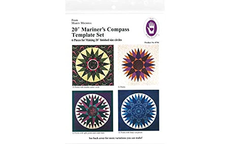 Michell Marketing 8704 Template Mariner's Compass 20