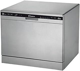 Candy CDCP 8/E-S - Lavavajillas (Independiente, Plata, Compacto, Negro, Plata, botones, Condensación)
