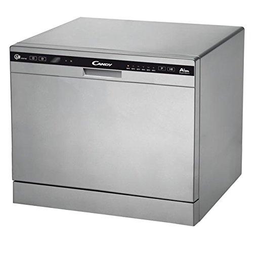 Candy CDCP 8/E-S Autonome 8places A+ lave-vaisselle - Lave-vaisselles (Autonome, Argent, Compact, Noir, Argent, boutons, Condensation)