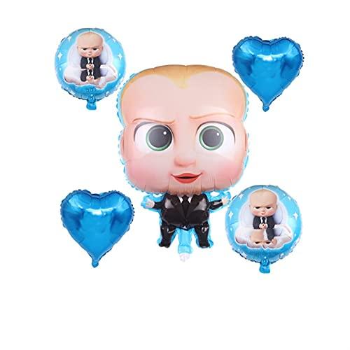 ENHONGDZ Dibujos Animados bebé Jefe Fiesta de cumpleaños Decoraciones Globos Conjunto Fiestas Suministros Baby Shower Party fothies (Color : C, Size : 1)