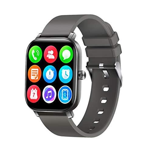 Relojes de pulsera Reloj Inteligente, Reloj Inteligente Táctil de Pantalla Completa, con Reloj Despertador con Pronóstico Del Tiempo, Rastreador de Actividad Bluetooth para El Sistema Android 4.4 y El