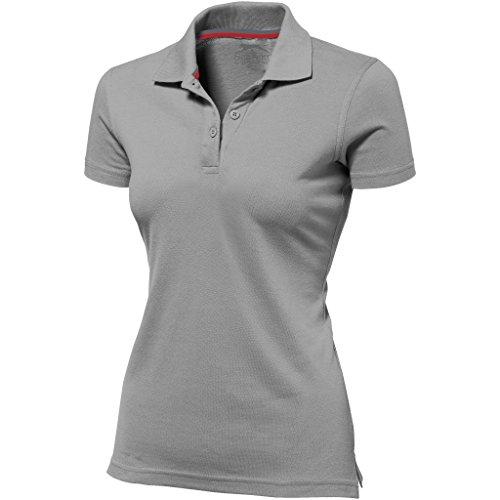 Slazenger Advantage Kurzarm Damen Polo (L, Grau)