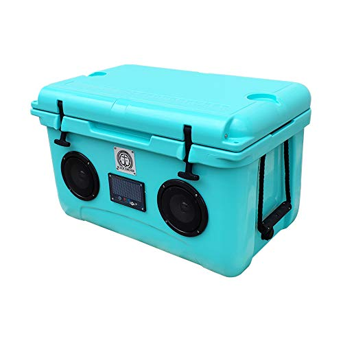 Black Anchor Rotomolded 45L Speaker Cooler IP44 Water Resistant for Parties Festivals Boat and Beach. Bluetooth 5.0 Compatible with iPhone & Android (45L, Seafoam)