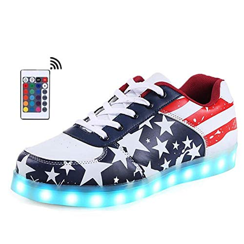 WUANNI Zapatos LED Zapatillas de Deporte para Calzado Deportivo ...