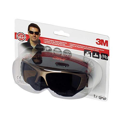3M Solus Schutzbrille mit Antibeschlag-Beschichtung S1GGC1 Fuel X2, bronze – Sicherheitsbrille für leichte Reparaturarbeiten – Mit Anti-Kratz- und Anti-Beschlag-Beschichtung
