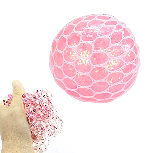1 Stück Stressabbau-Spielzeug Netzball Trauben-Entlüftungsball tragbar Anti-Stress Squeezing Mesh Ball Dekompression Squeezing Spielzeug Sensorisches Spielzeug Schön für Angst, ADHS und Autismus