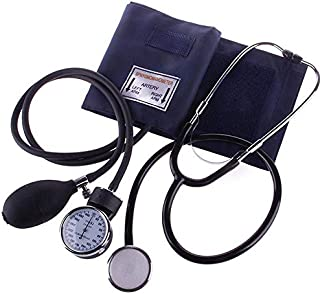 SISHUINIANHUA Medidor de Monitor de presión Arterial médico Tonómetro Cuff Kit de Estetoscopio Esfigmomanómetro de Viaje