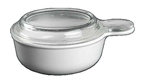 Corning Ware White Coupe Grab It w/ Lid ( 5 1/2' Dia / 15 Oz ) ( P-150-B )