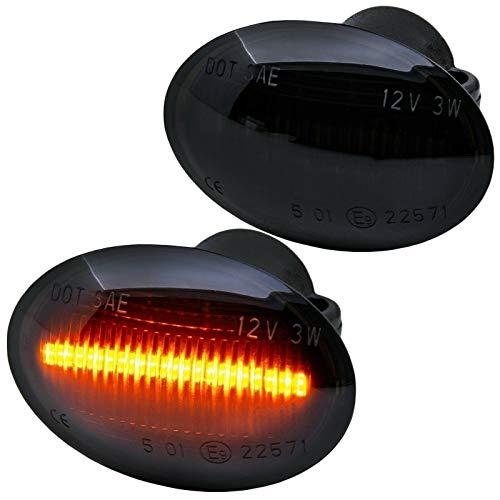 rm-style LED SEITENBLINKER schwarz Smoke [72405-1]