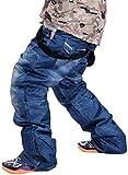 GoodLuckShop Denim Hosenträger Ski Jeans Wasserdicht Atmungsaktiv Warm Skifahren Snowboard