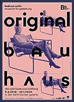 ポスター バウハウス Original frau mit maske 額装品 ウッドベーシックフレーム(ブルー)