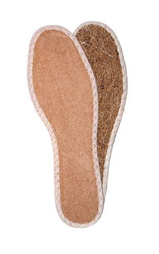 Kaps Einlegesohlen für Schuhe und Stiefel aus natürlichen Kokosfasern und Frotteestoff - Mikroklima für Ihre Füße Eco (38 EUR / 5 UK Women)