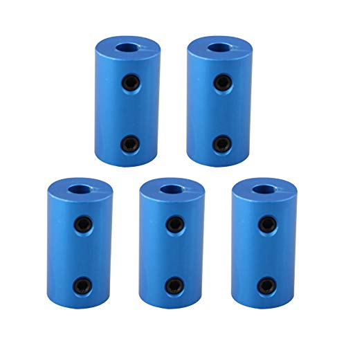 Jopto 5Pcs Shaft Couplings 5mm to 5mm Shaft Rigid Coupling Stepper Motor Wheel Coupler Connector Aluminum Alloy Casing for Creality CR-10 CR-10S S4 S5 Makerbot RepRap Prusa i3 3D Printer