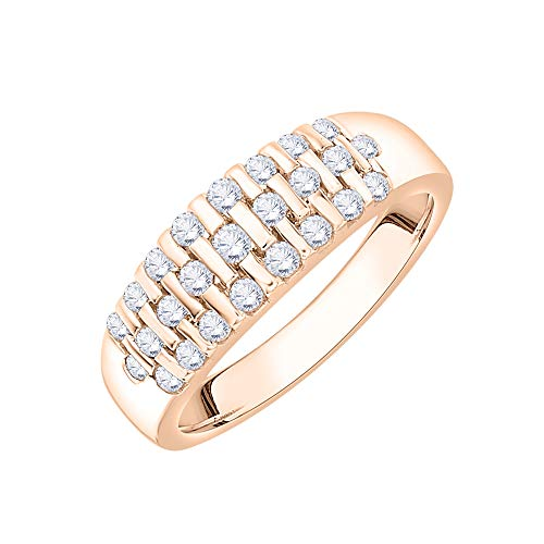 KATARINA Alianza de boda con diamantes en oro de 14 quilates (1/2 quilates, J-K, SI2-I1)
