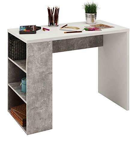 Samblo Midori Schreibtisch mit Wenderegal, Melamin, 90 cm breit