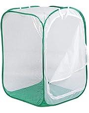 Duokon Rete di Insetti Vegetali Gabbia per Animali Farfalla Incubatrice Leggera per Piantine Casetta per Piante Pieghevole con Cerniera A Gabbia di Trasmissione della Luce Ventilata 60 * 60 * 90cm