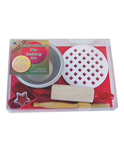 R& M International Kit pour tarte et pâtisserie Kit pour préparation de tarte avec tressage blanc