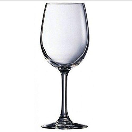 Arcoroc Juego de 6 copas de vino con forma de tulipán, vino tinto de alta calidad,...