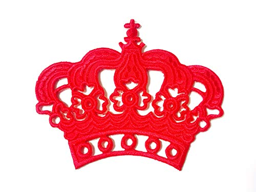 Princess Red Crown Cartoon Applique Embroidered Sew on Iron on Patch for Backpacks Jeans Jackets Clothing