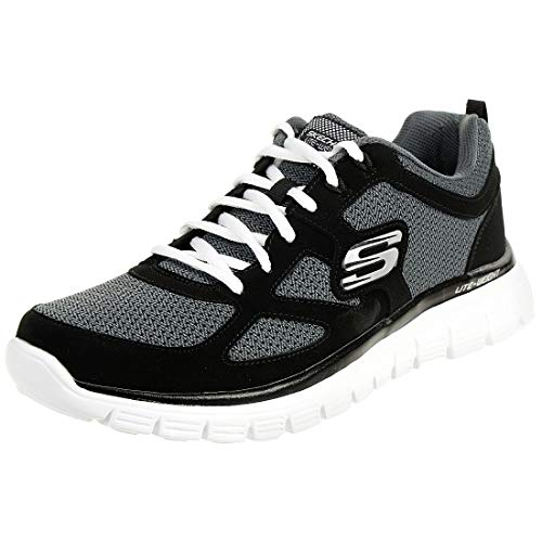Skechers, Sneakers basse da uomo Burns Agoura 52635-bkgy, Nero (Black/White Bkw), 47.5 EU