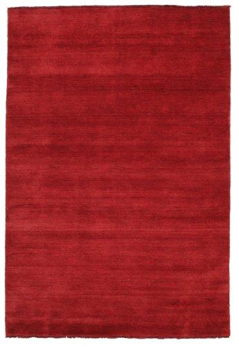 CarpetVista Alfombra Handloom Fringes - Rojo Oscuro 160x230 Alfombra Moderna