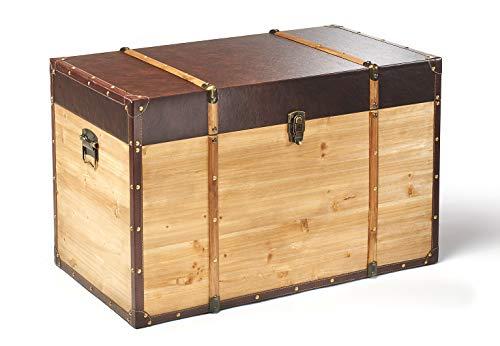 Truhe Schatztruhe Piratentruhe Panama – Holz – 80x45x50 cm - 2