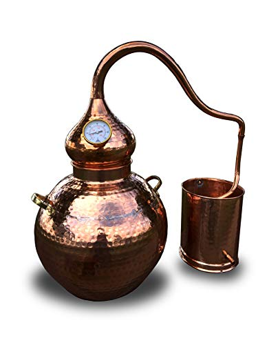 Copper Alembic Still, for Whiskey, Essential Oils, Water, etc. (2.5 Gallon)
