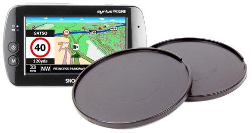 DURAGADGET Lot de Deux disques Ultra adhésifs, léger et résistant pour GPS Snooper PL 8200, Takara GP74BT et Mappy Maxi E618 Europe