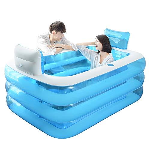 Vouwen, opblaasbare badkuip, kunststof zwembad, binnen en buiten, Home SPA vat, pool (afmetingen: 160 x 120 x 60 cm)