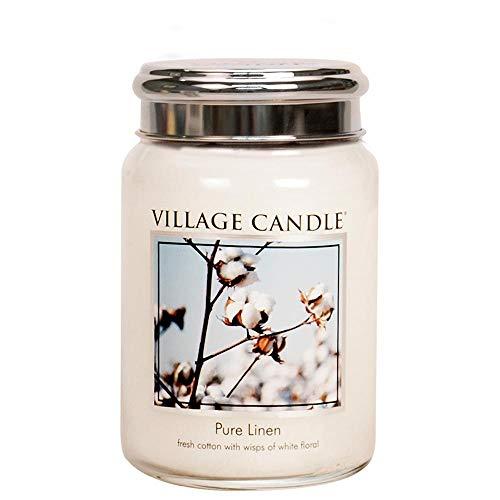 Village Candle Grande Bougie parfumée Jusqu'à 170 Heures de Combustion Linge Frais 17 x 10 cm 1219 g