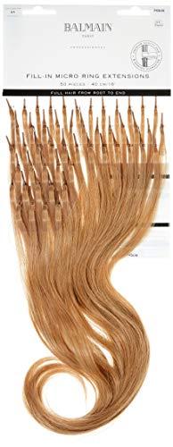 Balmain Micro Ring Extensions de cheveux humains 50 pièces Longueur 40 cm Blond cendré naturel 8A 240 g