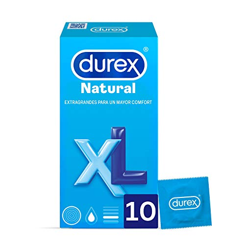 Durex Natural Plus condoom, maat XL, 12 grotere condooms