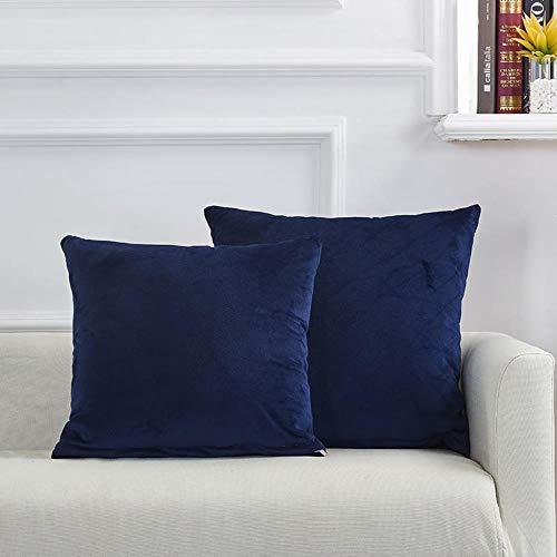 Mazu Homee Funda de cojín de sofá de 45 x 45 cm, mezcla de algodón, relleno cuadrado de fibra hueca