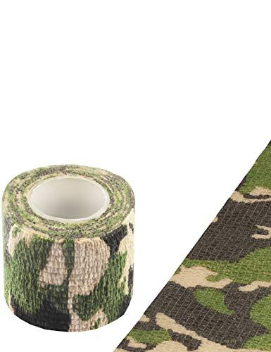 Outdoor Saxx® - Camouflage Tarn-Tape, Gewebe-Band, Tarnung wasserfest mehrfach verwendbar, Kamera, Ausrüstung, Jäger, Angler, Fotografen, Länge 4.5m, Breite 5cm