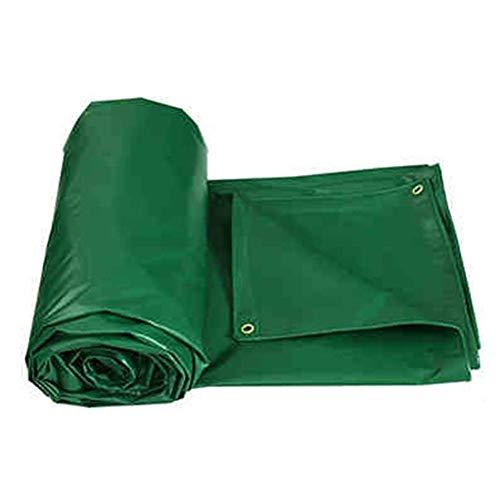Afdekzeil, wasdoek van PVC, voor buiten, dik, voor parasol, regenbescherming, voor boot, met regenbescherming, groen (maat: 6 × 8 m) 4×4m