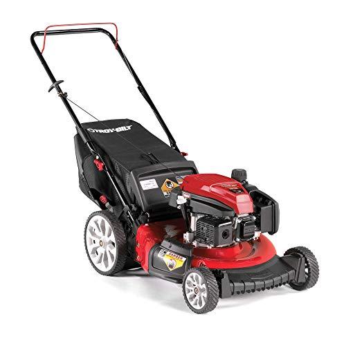 Troy Bilt TB130 21 Inch 159cc Gas Mulching Push Walk Behind Lawn Mower, Red