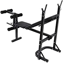 Olympic Weight Bench Adjustable Workout Bench with Leg Developer and Barbell Lifting Press for Full Body Exercise, Gym Equipment Workout Benches for Home