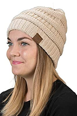 dd1e42521c0 FUNKY JUNQUE s CC Solid Ribbed Beanie – Soft Stretch Cable Knit – Warm  Skull Cap The BEST beanie on the internet looks great on EVERYBODY with  EVERYTHING!