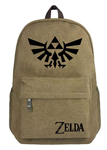 WANHONGYUE The Legend of Zelda Juego Bolso de Escuela Bolsa de Lona Mochila de Viaje Backpack Rucksack /4
