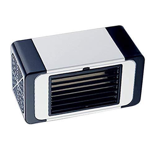Gaoominy Ventilador pequeño USB de aire acondicionado portátil de escritorio ventilador de refrigeración de oficina hogar dormitorio refrigerador pequeño