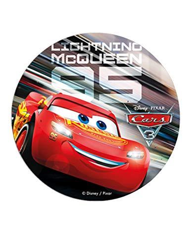 Dekora - Decoracion Tartas de Cumpleaños Infantiles en Disco de Oblea de Cars 3 Rayo McQueen - 20 cm