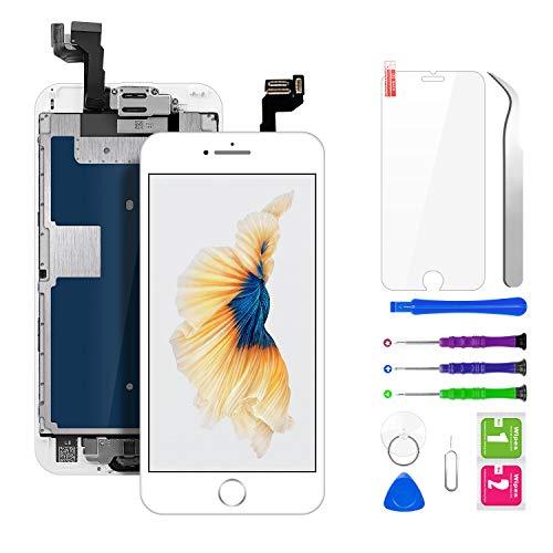 BuTure Display LCD Schermo per iPhone 6S Bianco 4,7 Pollici