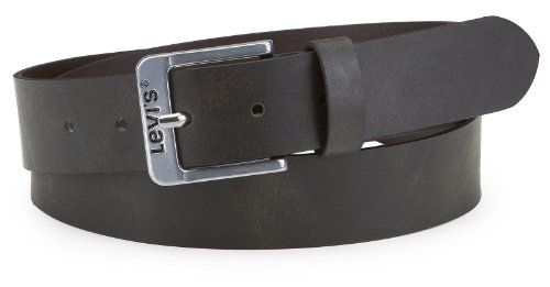 Levis 5117 Ceinture homme en cuir pour jeans de 35 mm de large Marron noir - noir -